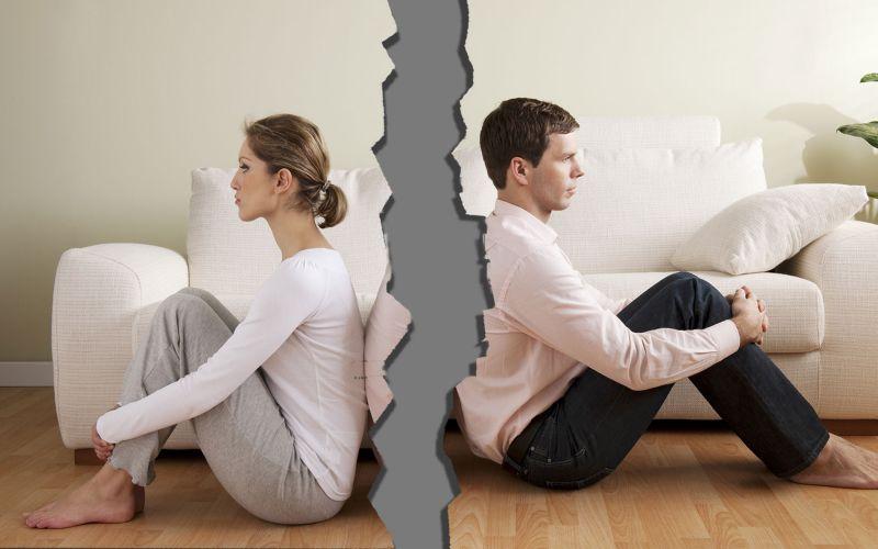 Skłócone małżeństwo w trakcie rozwodu